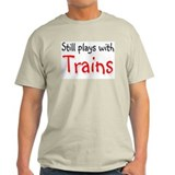 Still plays with Trains Ash Grey T-Shirt