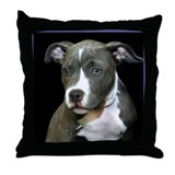 Pitbull Puppy Throw Pillow