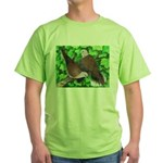 Ringneck Doves Green T-Shirt