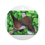 Ringneck Doves Ornament (Round)