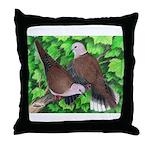 Ringneck Doves Throw Pillow