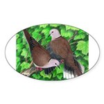 Ringneck Doves Oval Sticker