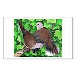 Ringneck Doves Rectangle Sticker