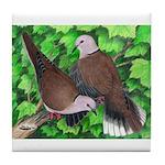 Ringneck Doves Tile Coaster