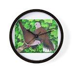Ringneck Doves Wall Clock