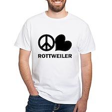 Peace Love Rottweiler Shirt