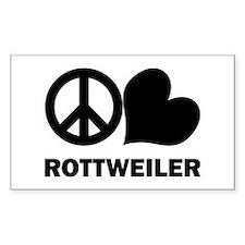 Peace Love Rottweiler Decal