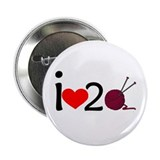 "i heart 2 knit 2.25"" Button"