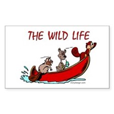 The Wild Life Rectangle Decal