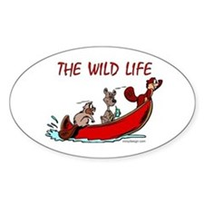 The Wild Life Oval Decal