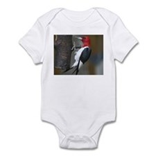 Red Headed Woodpecker Infant Bodysuit