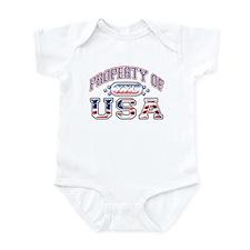 Property of USA Infant Bodysuit