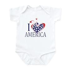 I Love America Infant Bodysuit
