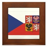 Czech Republic Flag & Seal Framed Tile