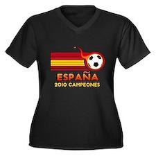 Espana 2010 Campeones Women's Plus Size V-Neck Dar