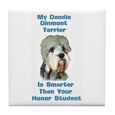 Smart Dandie Dinmont Tile Coaster