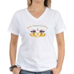 Belly Dance Shimmy Chic Women's V-Neck T-Shirt