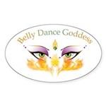 Belly Dance Shimmy Chic Sticker (Oval 10 pk)