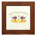 Belly Dance Shimmy Chic Framed Tile