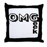 Oh My Geek Throw Pillow