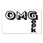 Oh My Geek Sticker (Rectangle 10 pk)