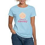 Baby Coming In January Women's Light T-Shirt