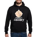 Baby Coming In January Hoodie (dark)