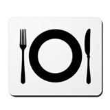 Cutlery - Plate Mousepad