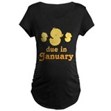 Baby Duck January Maternity Date T-Shirt
