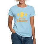 Baby Duck January Maternity Date Women's Light T-S
