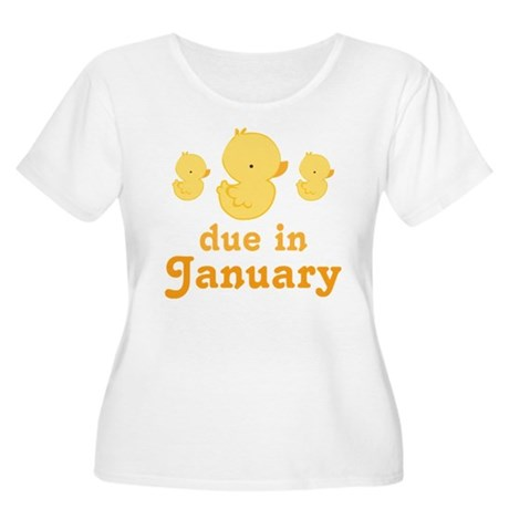 Baby Duck January Maternity Date Women's Plus Size