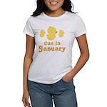 Baby Duck January Maternity Date Women's T-Shirt