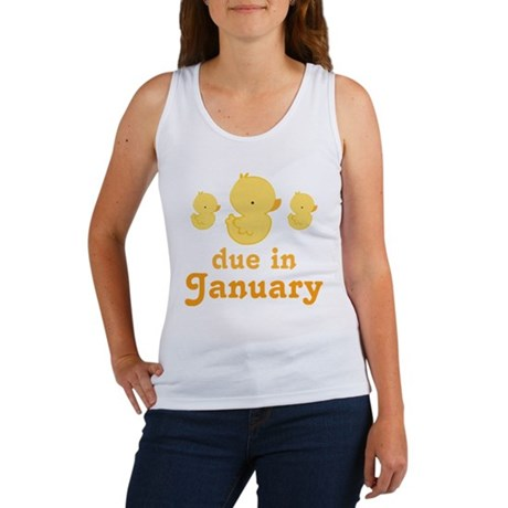 Baby Duck January Maternity Date Women's Tank Top
