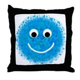 """Aqua Fuzzy"" Throw Pillow"