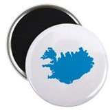 "Iceland map 2.25"" Magnet (100 pack)"
