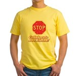STOP! Yellow T-Shirt