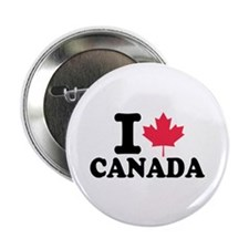 """I love Canada 2.25"""" Button (100 pack)"""