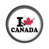 I love Canada Wall Clock