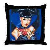 Lady Bleu Throw Pillow