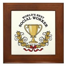 World's Best Social Worker Framed Tile
