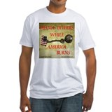 OBAMA DITHERS - AMERICA BURNS Shirt