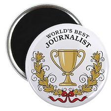World's Best Journalist Magnet