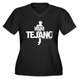 I AM TEJANO MUSIC Women's Plus Size V-Neck Dark T-