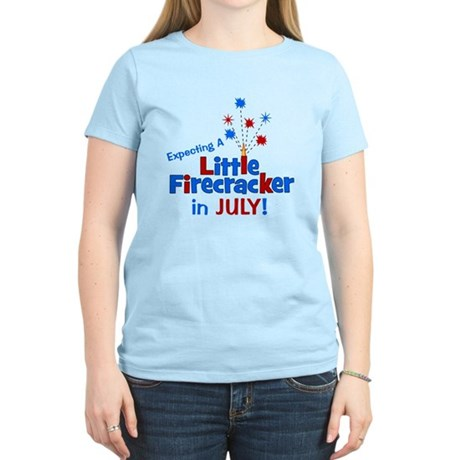 Little Firecracker in July. Women's Light T-Shirt