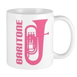 Music Silhouette Baritone Small Mug