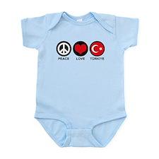 Peace Love Turkiye Infant Bodysuit
