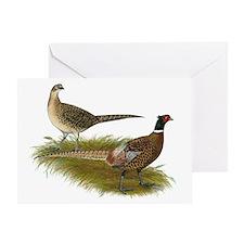 Ringneck Pheasant Pair Greeting Card