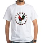 Rooster Circle White T-Shirt