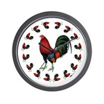 Rooster Circle Wall Clock