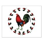 Rooster Circle Small Poster